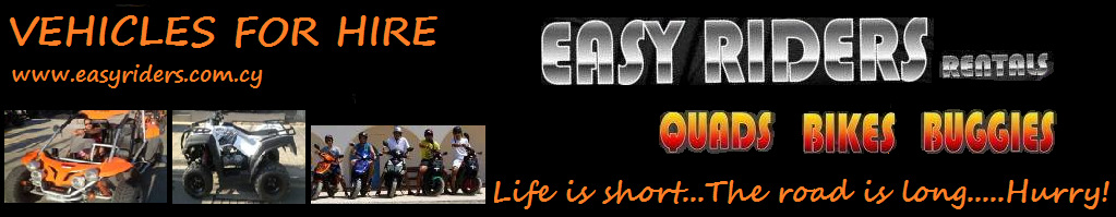 Easy Riders Ayia napa quad bike moped buggy hire