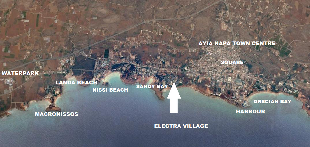 Electra Holiday Village Ayia Napa Map