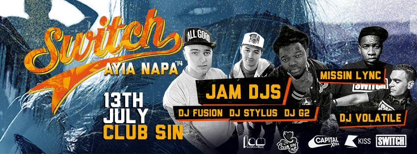 Club Sin Ayia napa event