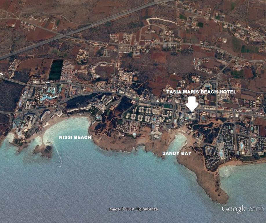 Tasia Maris Beach Hotel Ayia Napa map