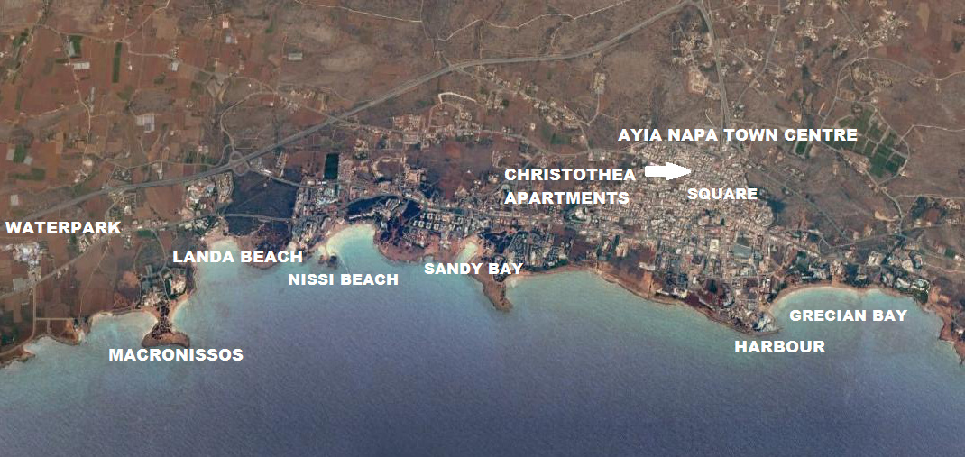 Christothea Apartments Ayia Napa Map
