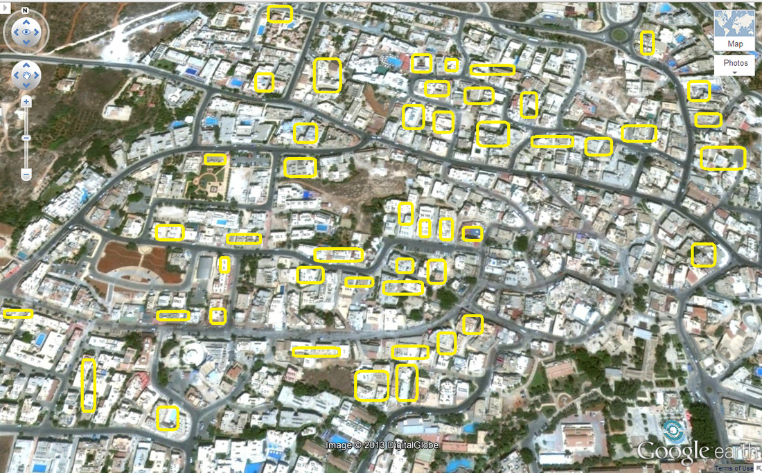 Ayia Napa workers accommodation map