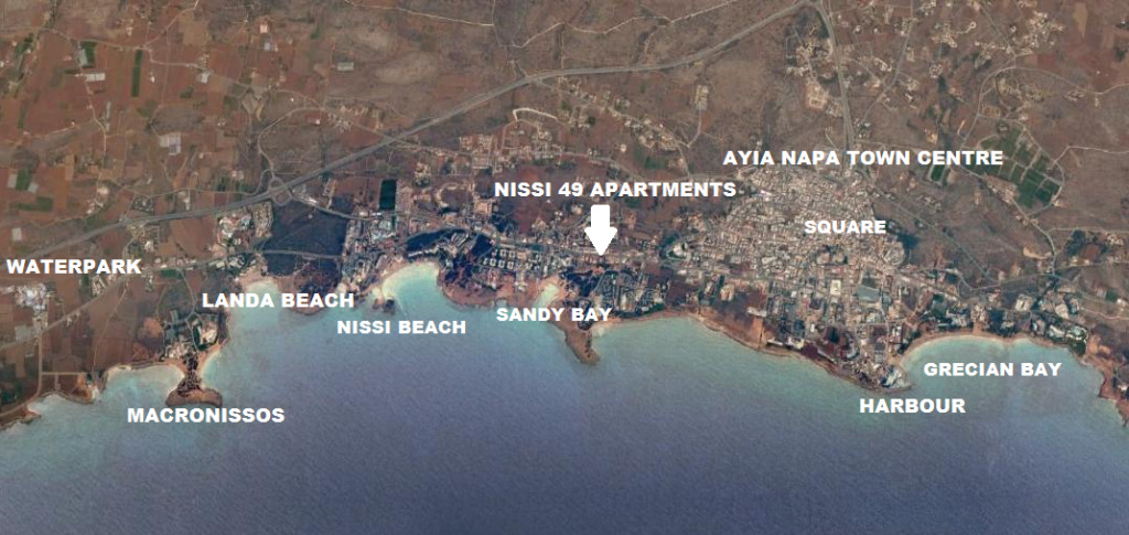Nissi 49 apartments ayia napa map