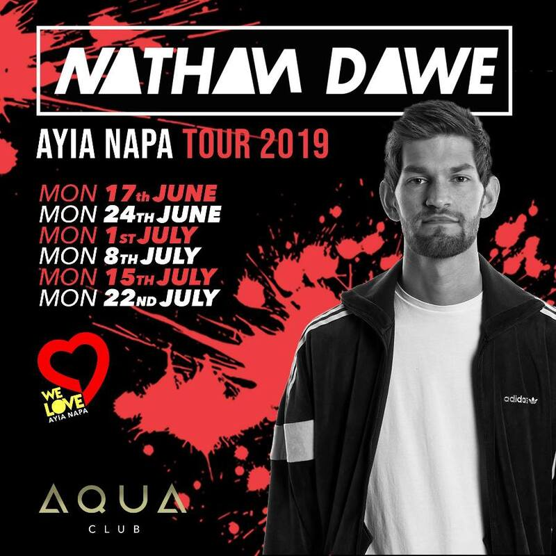 Book TIckets for Nathan dawe Ayia Napa