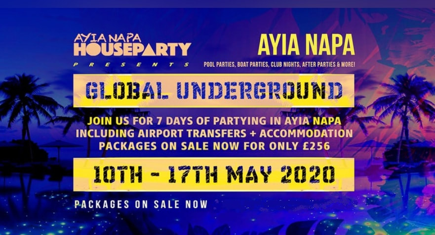 ayia napa house party 2020