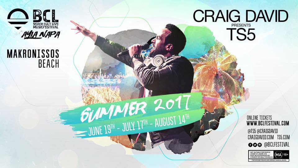 Craig David in Ayia Napa 2017
