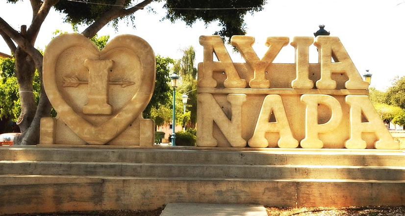 I love Ayia Napa sculpture