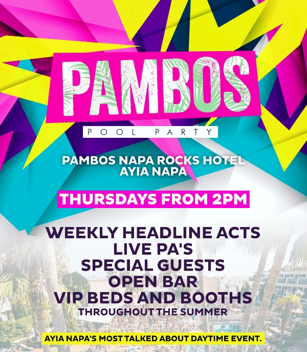 Pambos Pool Party Tickets Ayia Napa