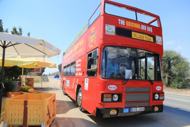 Red Bus Tours from Ayia Napa Divided Line villages