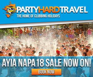 Party hard travel ayia napa 2018
