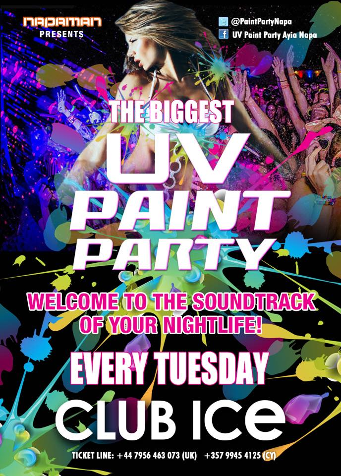 Book UV paint Party Tickets